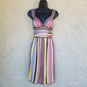 Missoni Italy Multi Color Striped Knit Dress XS